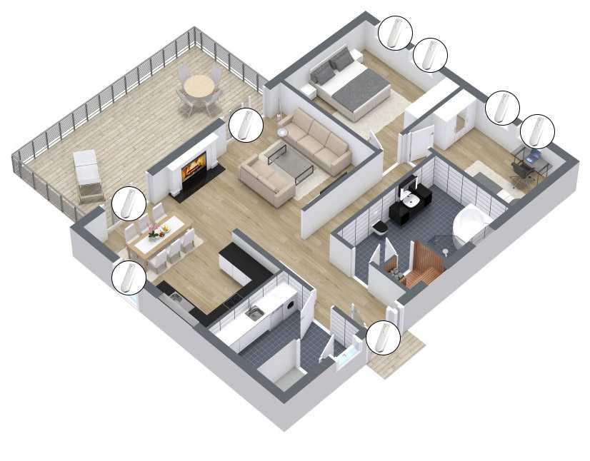 Boligalarm - Beskytt huset ditt med skalsikkring ved hjelp av magnetkontakt eller sjokkdetektor.