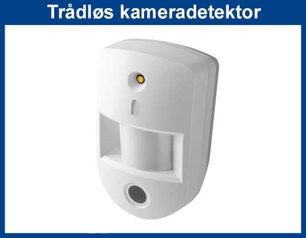 Kameradetektor med IR lys og lang rekkevidde