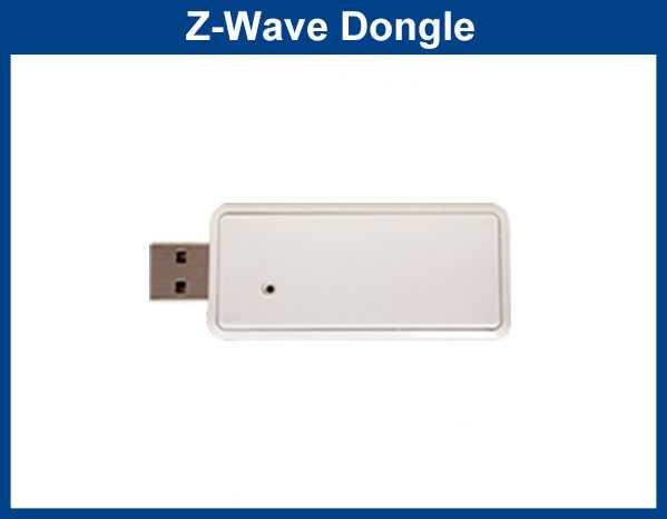 Settes inn i usb inngang på 2 områders sentral for å bruke Z-Wave tilbehør.