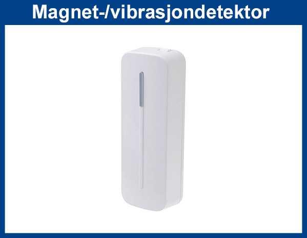 Trådløs magnetkontakt med sjokk og vibrasjondetektor